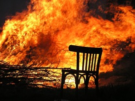 Hot Seat Records Burning Chair